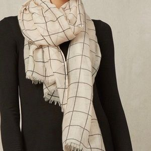 Rachel Pally Summer Scarf Cream grid